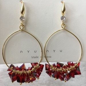 Jewelry - Earrings hook with crystal drops